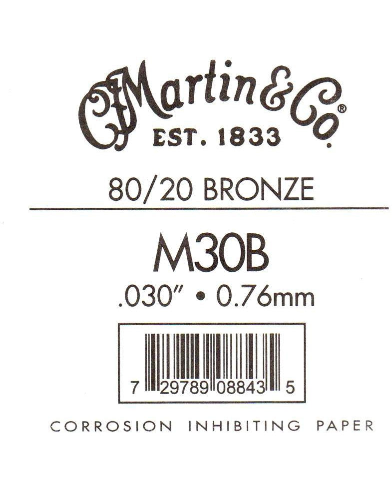 Martin Bronze Wound Ball End Single String .030