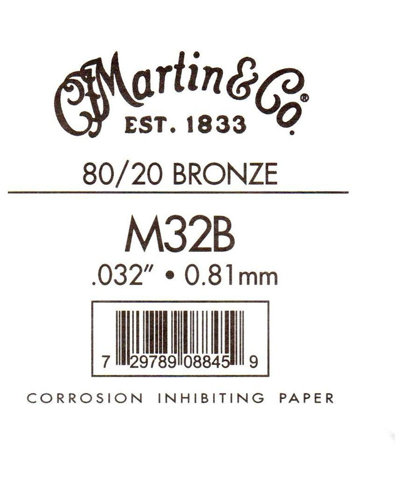 Martin Bronze Wound Ball End Single String .032