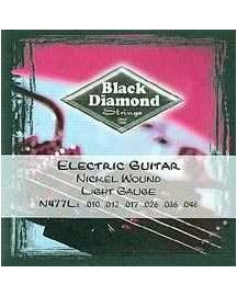Black Diamond N477L Nickelwound 6-String Light Electric Guitar Set