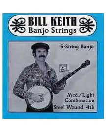Bill Keith Stainless Steel 5-String Banjo Set, Blue Label