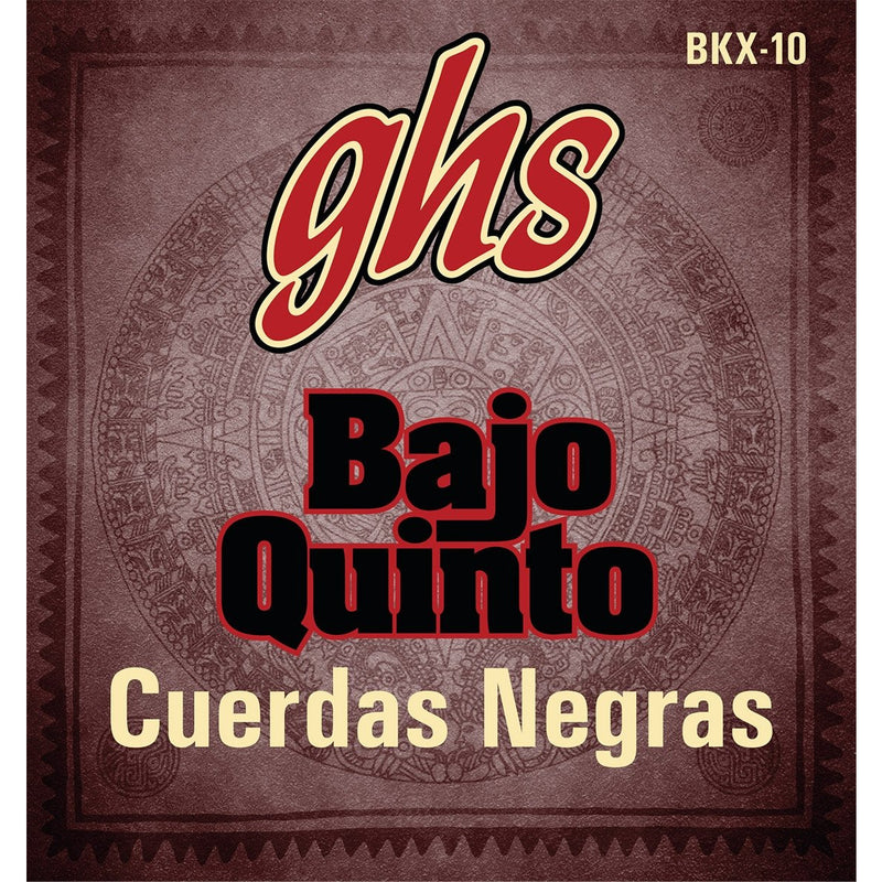 GHS BKX-10 Black Coated Stainless Steel 10-String Bajo Quinto Strings
