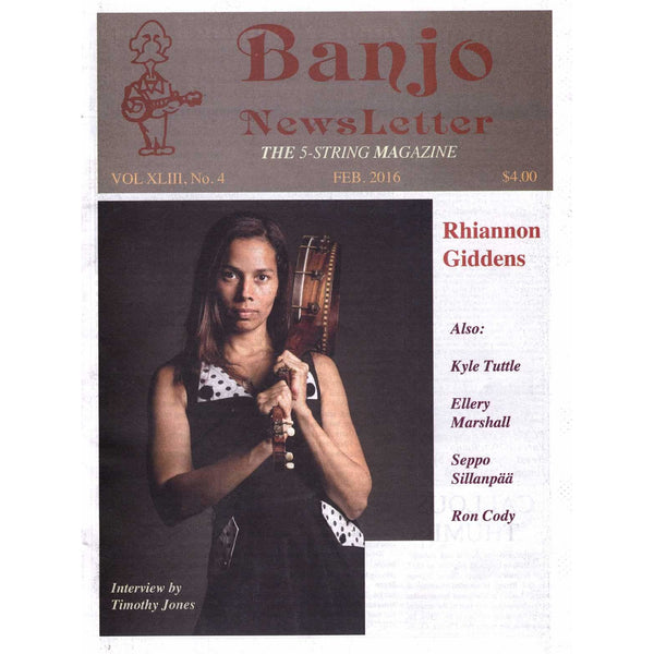 Banjo Newsletter February 2016 Vol. XLIII, No. 4