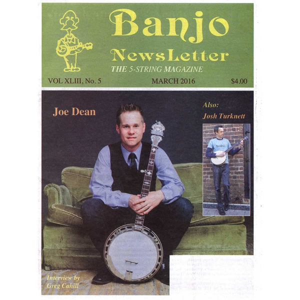 Banjo Newsletter March 2016 Vol. XLIII, No. 5