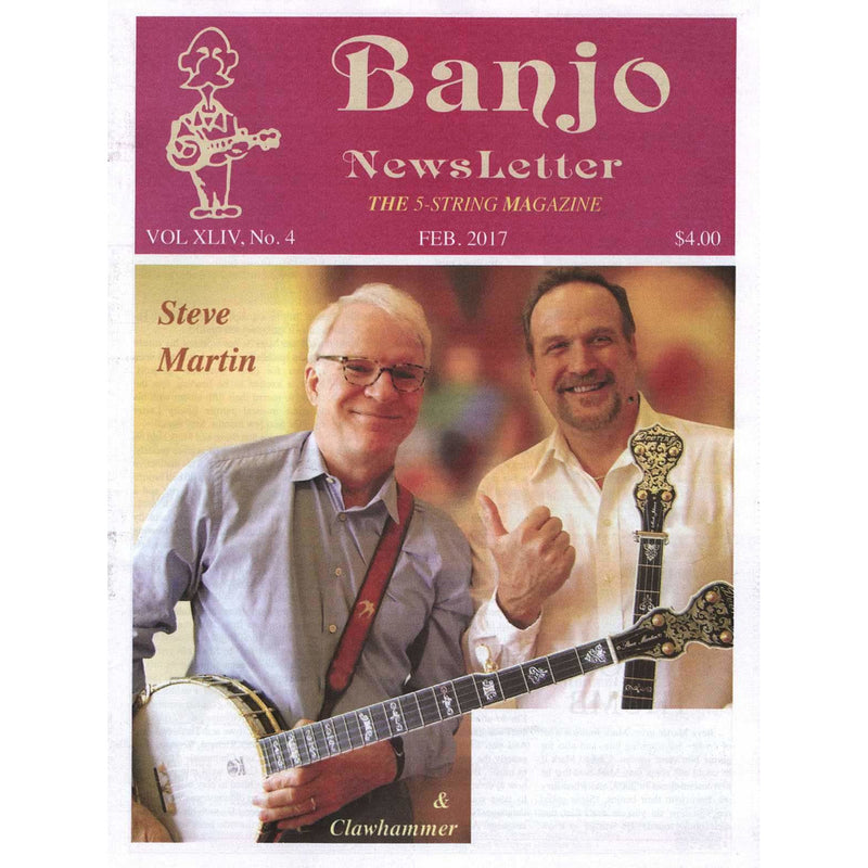 Banjo Newsletter February 2017 Vol. Xliv, No. 4