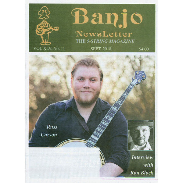 Banjo Newsletter - September 2018 Vol. XLV, No. 11