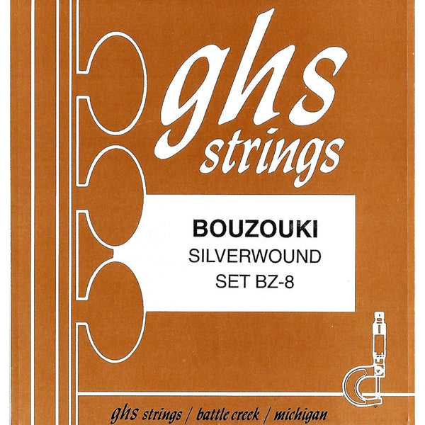GHS BZ-8 Silverwound 8-String Greek Bouzouki Strings