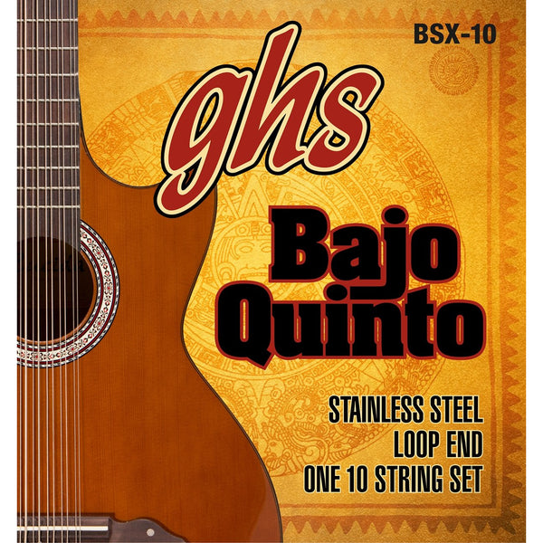 GHS BSX-10 Stainless Steel 10-String Bajo Quinto Strings