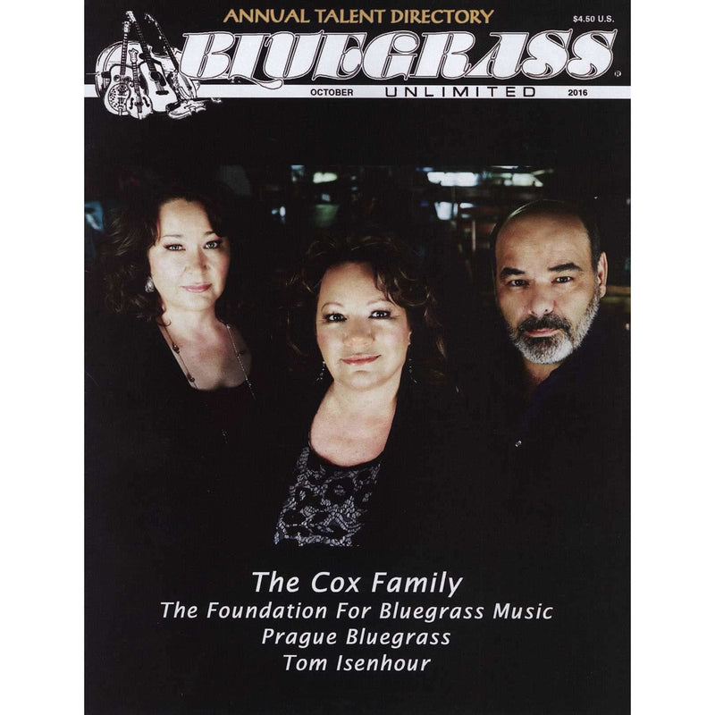 Bluegrass Unlimited October 2016
