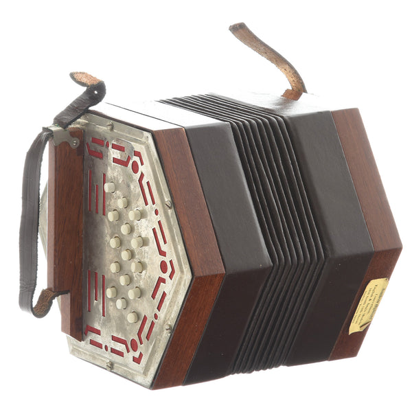 Renelli 30 Button Anglo Concertina (1980's?)