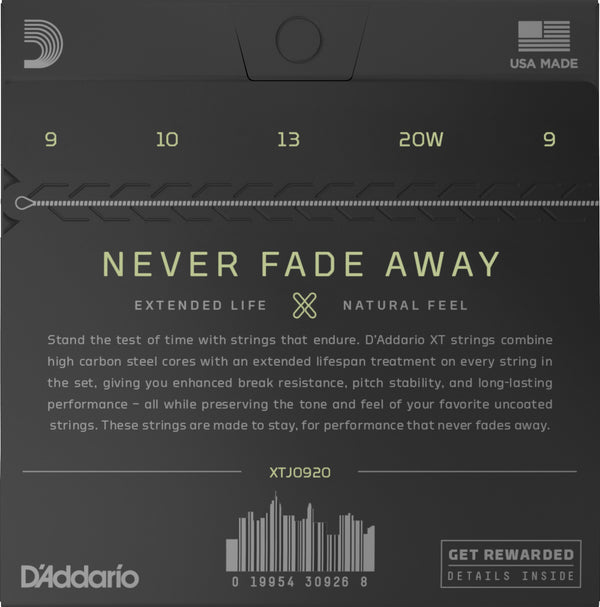 D'Addario XT Nickel Light Gauge 5-String Banjo Strings