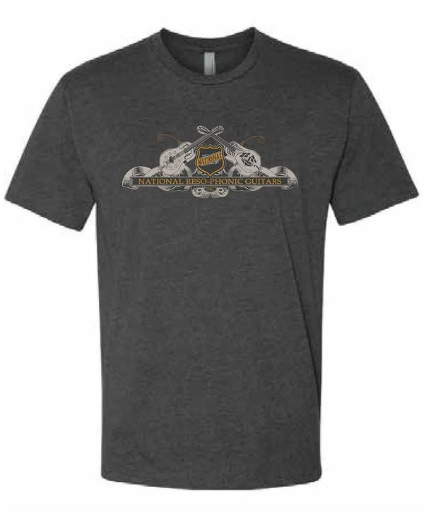 National Reso-Phonic Guitars T-Shirt, Charcoal (various sizes)