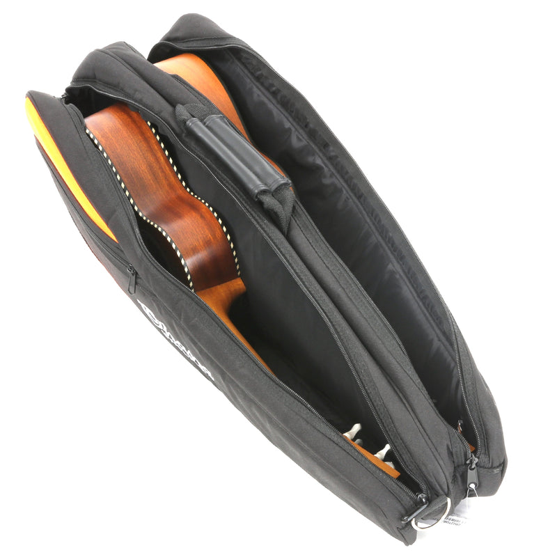 Ohana DB2-27OR Double Tenor Ukulele Gigbag, Orange Trim