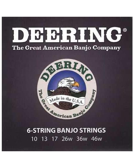 Deering 6-String .10-.46 Nickel-Plated Steel Banjo Strings