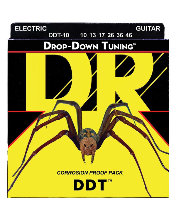 DR DDT-10 Drop-Down Tuning Nickel Wound 6-String Electric Guitar Set