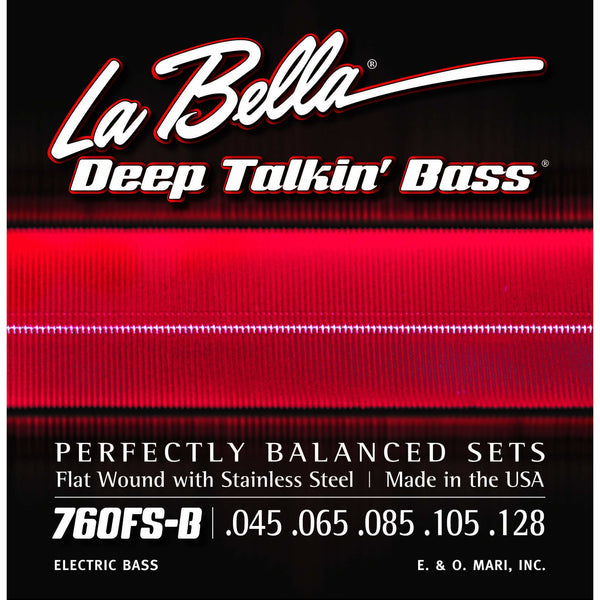 La Bella 760FS-BS Flat Wound Short Scale 5-String Bass Strings