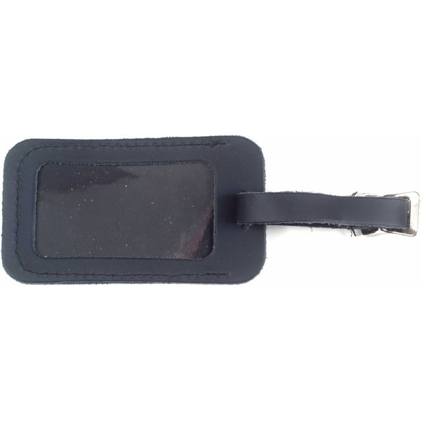 Elderly Instruments Black Leather Case/Luggage Tag