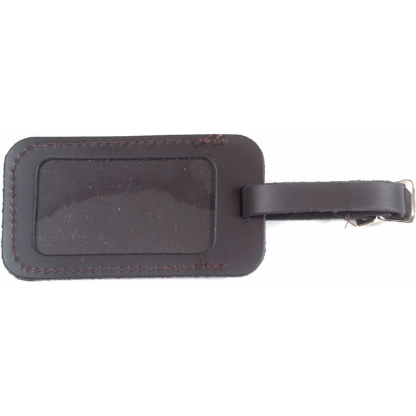 Elderly Instruments Brown Leather Case/Luggage Tag