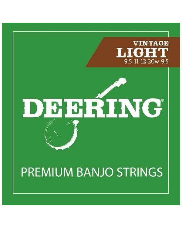Deering 5-String Nickel-Plated Steel Vintage Light Gauge Banjo Strings