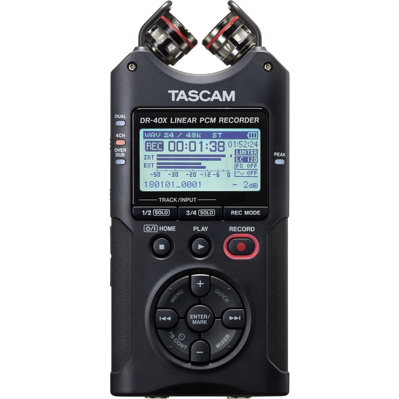Tascam DR-40X Four Track Digital Audio Recorder & USB Audio Interface