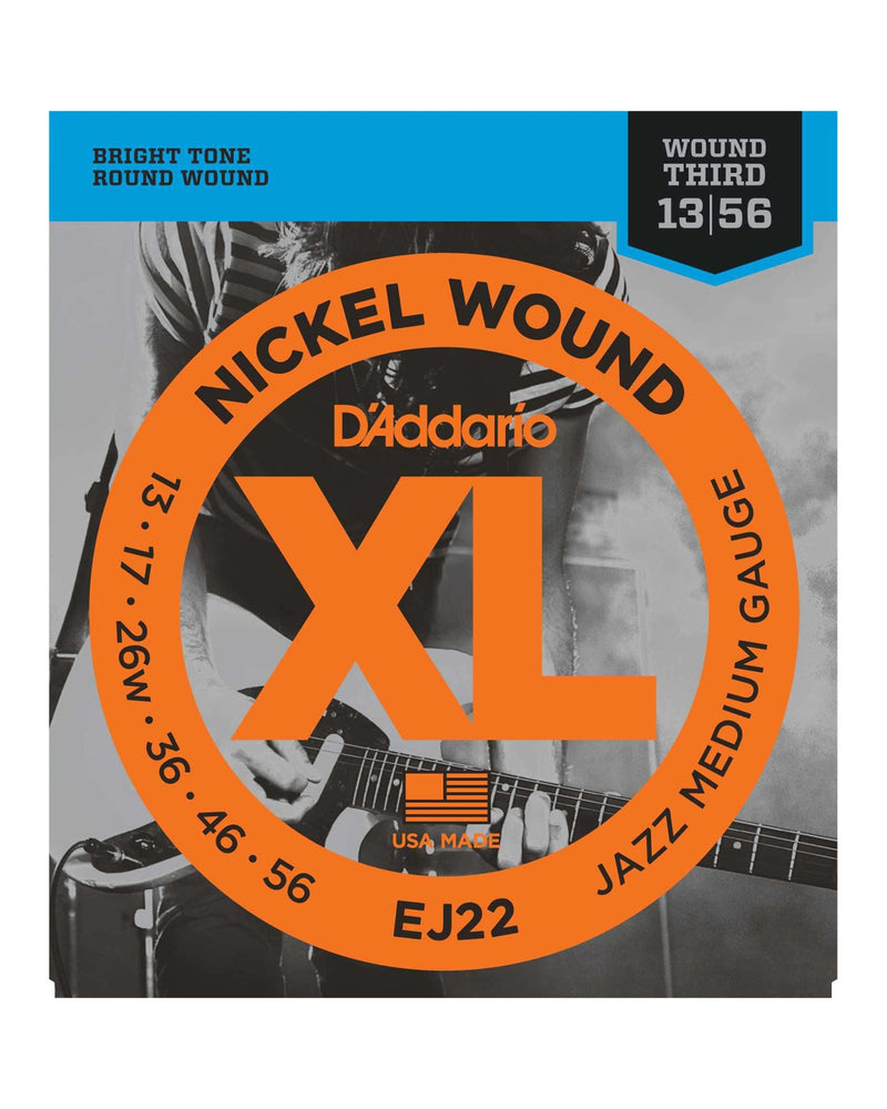 D'Addario EJ22 XL Nickel Round Wound Jazz Medium Gauge Electric Guitar Strings