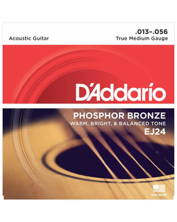 D'Addario EJ24 Phosphor Bronze True Medium Gauge Acoustic Guitar Strings