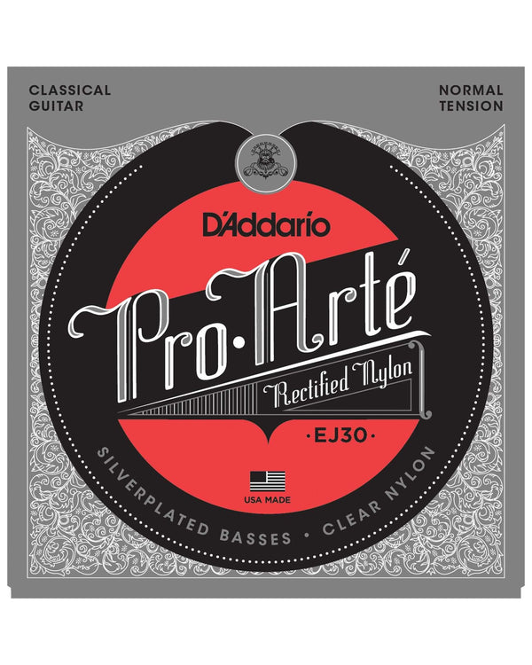 D'Addario EJ30 Pro-Arte Silverplated Basses Clear Nylon Normal Tension Classical Guitar Strings