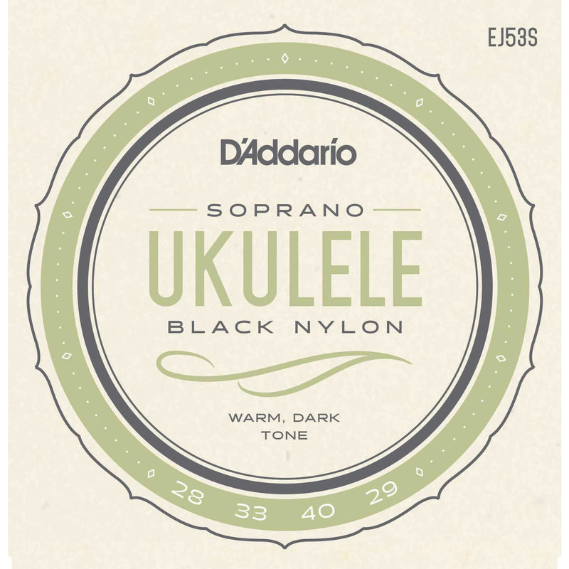 D'Addario EJ53S Pro-Arte Rectified Black Nylon Soprano Ukulele Strings