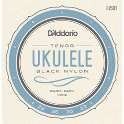 D'Addario EJ53T Pro-Arte Rectified Black Nylon Tenor Ukulele Strings