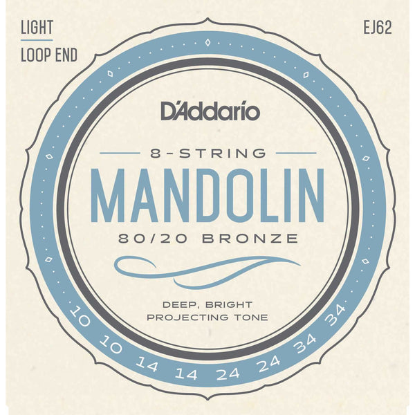 D'Addario EJ62 80/20 Bronze Light Gauge Mandolin Strings