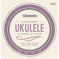 D'Addario EJ65C Pro-Arte Custom Extruded Clear Nylon Concert Ukulele Strings