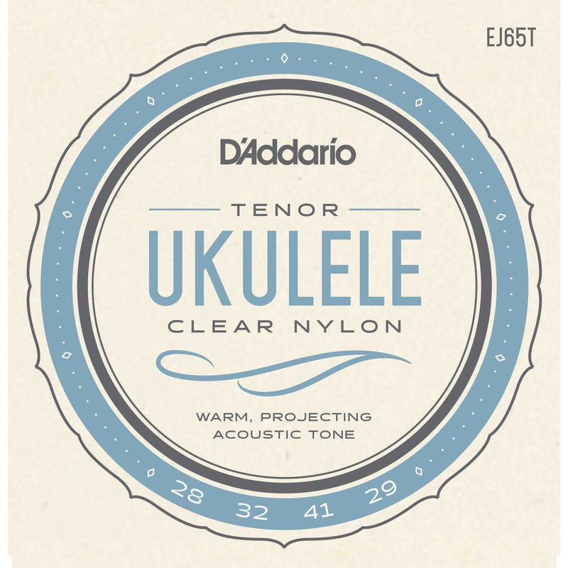 D'Addario EJ65T Pro-Arte Custom Extruded Clear Nylon Tenor Ukulele Strings