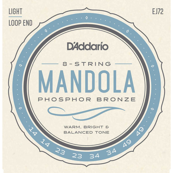 D'Addario EJ72 Phosphor Bronze Light Gauge Mandola Strings