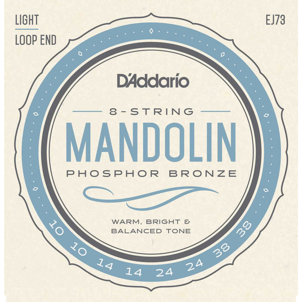 D'Addario EJ73 Phosphor Bronze Light Gauge Mandolin Strings