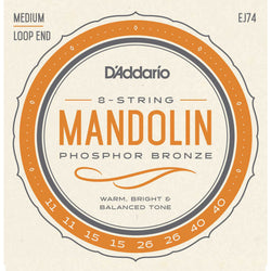 D'Addario EJ74 Phosphor Bronze Medium Gauge Mandolin Strings