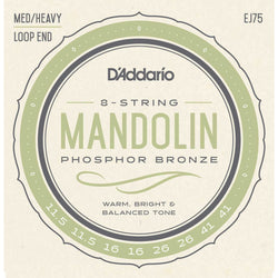 D'Addario EJ75 Phosphor Bronze Medium / Heavy Gauge Mandolin Strings