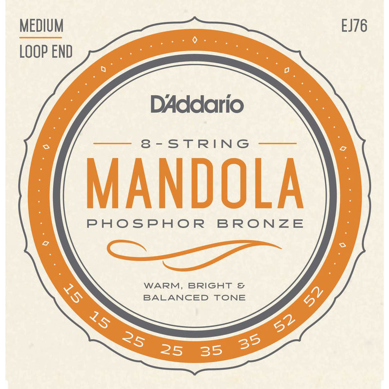 D'Addario EJ76 Phosphor Bronze Medium Gauge Mandola Strings