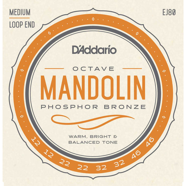 D'Addario EJ80 Phosphor Bronze Medium Gauge Octave Mandolin Strings