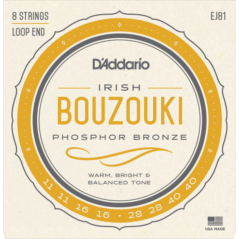 D'Addario EJ81 Phosphor Bronze Irish Bouzouki Strings