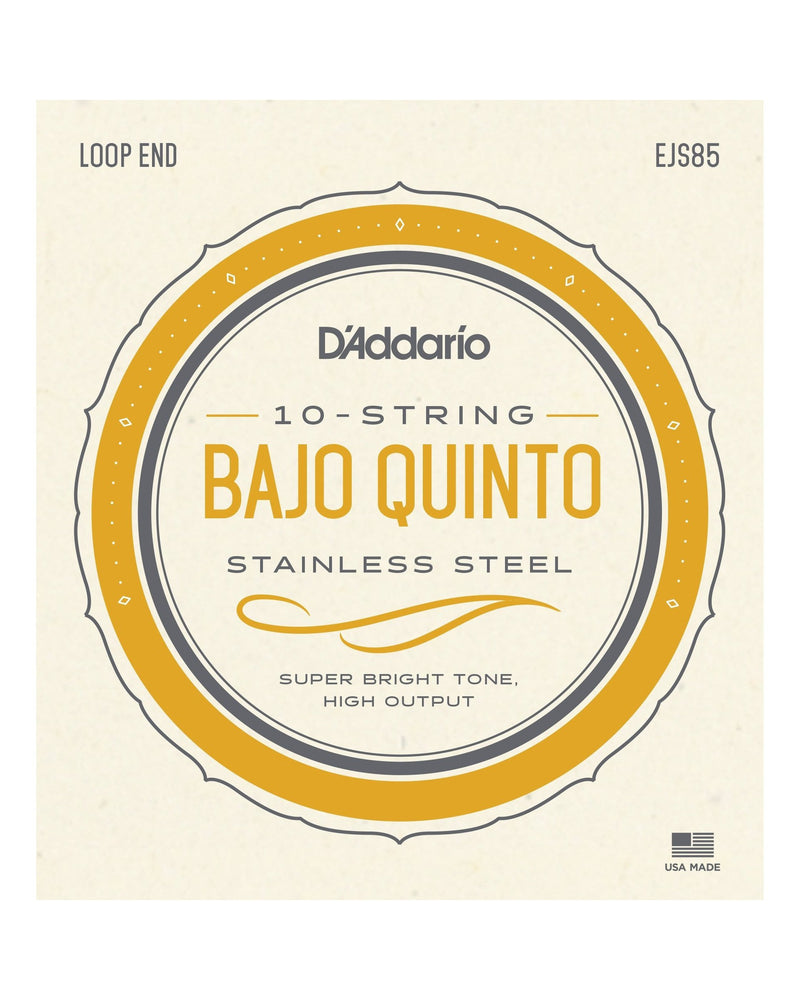 D'Addario EJS85 Stainless Steel 10-String Bajo Quinto Strings