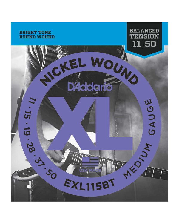 D'Addario EXL115BT Nickel Round Wound Balanced Tension Medium Gauge Electric Guitar Strings