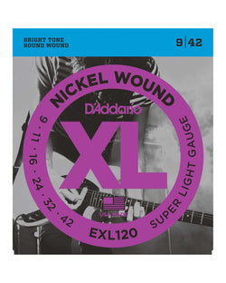 D'Addario EXL120 XL Nickel Round Wound Super Light Gauge Electric Guitar Strings
