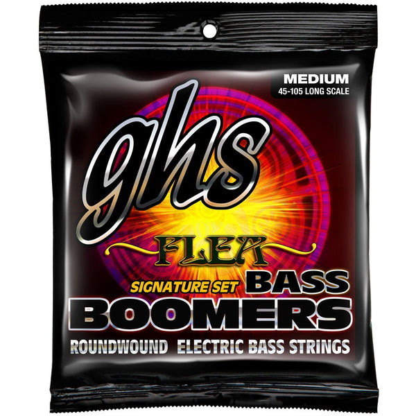 GHS M3045 Boomers Flea Signature Nickel-Plated Steel Medium Gauge Electric Bass Strings, Long Scale