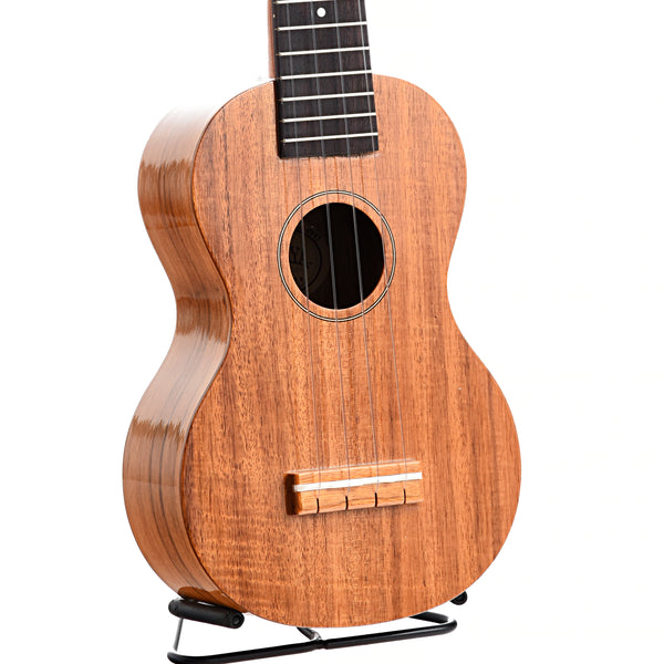 Kiwaya Eco Series KS-5G Koa Soprano Ukulele, with Geared Tuners