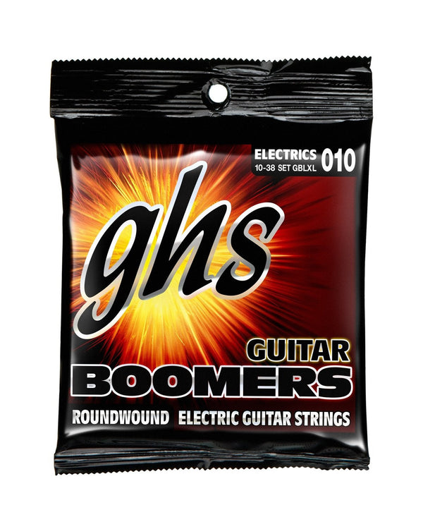 GHS GBLXL Boomers Nickel-Plated Steel Light / Extra Light Gauge Guitar Strings