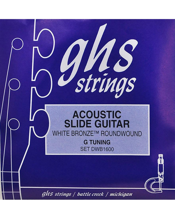 GHS DWB1600 White Bronze Resonator Acoustic Guitar Strings, G-Tuning