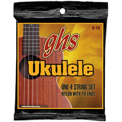 GHS H-10 Black Nylon Hawaiian Soprano/Concert Ukulele Strings