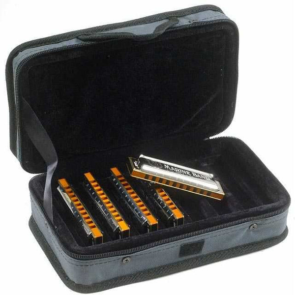 Hohner Case of Marine Bands 5 Pack of Marine Band Harmonicas & Case