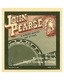 John Pearse 1700L 80/20 Bell Bronze Extra Long Light 5-String Banjo Strings