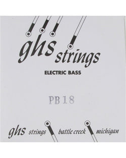 "GHS PB18 Plain Steel Bass Single String 018, Unwound (42"" Winding Length), Clearance Sale!"