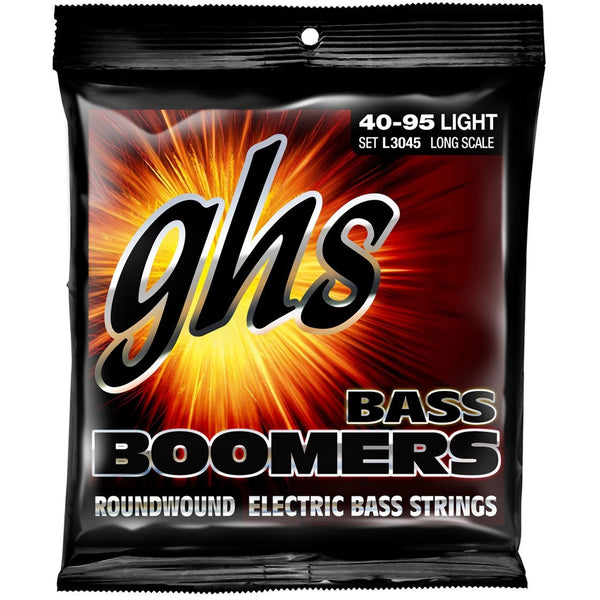 GHS L3045 Boomers Nickel-Plated Steel Light Gauge Electric Bass Strings, Long Scale